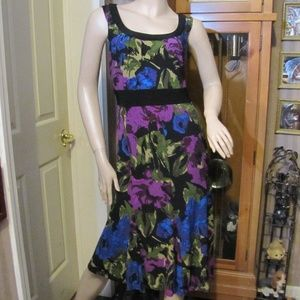 Perceptions New York Black & Purple  Dress 12